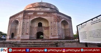 A view of tomb of Khan-e-Jahan Bahadur Kokaltash a 17th century tomb of a Mughal governor that located in Mohalla Ganj, Khan-e-Jahan Bahadur Zafar Jung Kokaltash served as Mughal Subehdar (governor) of Lahore from 11 April 1691-1693. In mid of 1693, Emperor Aurangzeb Alamgir dismissed him from this office. Four years later, Khan-e-Jahan died on 23 November 1697 and buried the location of this tomb. Historic evidences obscure about Khan-e-Jahan. Historians have different views about that who is buried here. Historian Kanhaiya Lal giving remarks that he was a Vizier and Umra-ul-Umra during the reign of Mughal Emperor Akbar and he died in 1602. But later Mughal History, we can find who buried here
