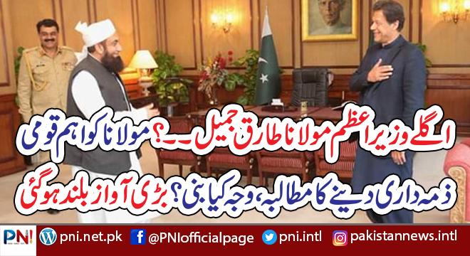اگلے وزیراعظم مولانا طارق جمیل۔۔؟ مولانا کو اہم قومی  ذمہ داری دینے کا مطالبہ ،وجہ کیا بنی؟ سہیل وڑائچ نے انکشاف کر دیا