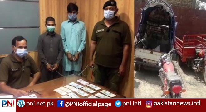 جہلم پولیس کی کارروائی، ملزمان گرفتار، مال مسروقہ برآمد