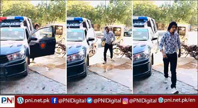 عام شہری بھی پولیس موبائل میں ٹک ٹاک ویڈیو بنانے لگے، ویڈیو وائرل ہوگئی